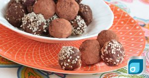 No Bake Chocolate Protein Bites